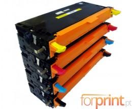 4 Toners Compativeis, DELL 5931017X Preto + Cor ~ 8.000 Paginas