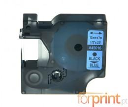 Fita Compativel DYMO 45016 Azul 12mm x 7m