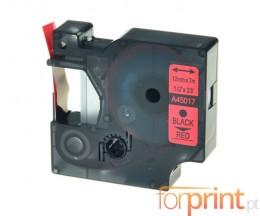 Fita Compativel DYMO 45017 Vermelho 12mm x 7m
