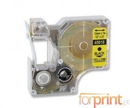 Fita Compativel DYMO 45018 Amarelo 12mm x 7m
