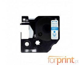 Fita Compativel DYMO 45011 AZUL / TRANSPARENTE 12mm x 7m