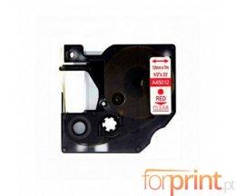 Fita Compativel DYMO 45012 Vermelho / Transparente 12mm x 7m