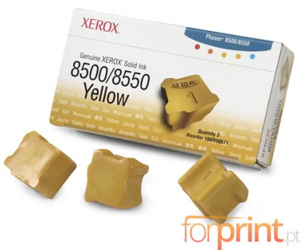 3 ColorSticks Originais, Xerox 108R00671 Amarelo ~ 3.000 Paginas