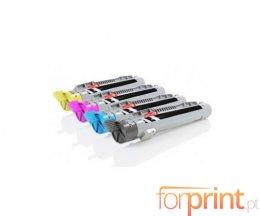 4 Toners Compativeis, Epson S05014X Preto + Cor ~ 8.000 Paginas