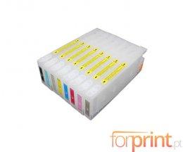 8 Tinteiros Compativeis, Epson T5441-T5448 Preto + Cor 220ml