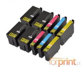 10 Tinteiros Compativeis, Epson T2701-T2704 / T2711-T2714 Preto 22.4ml + Cor 15ml