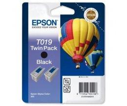 2 Tinteiros Originais, Epson T019 Preto 24ml