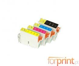 4 Tinteiros Compativeis, Epson T0321 Preto 36ml + T0422-T0424 Cor 15.4ml