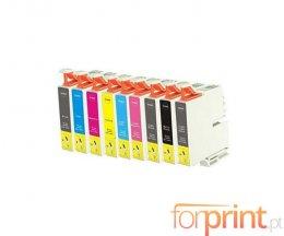 9 Tinteiros Compativeis, Epson T0591-T0599 Preto + Cor 17ml