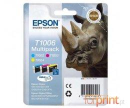 3 Tinteiros Originais, Epson T1002-T1004 Cor 11.1ml