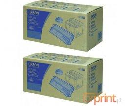 2 Toners Originais, Epson S051189 Preto ~ 15.000 Paginas