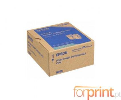 2 Toners Originais, Epson S050608 Cyan ~ 7.500 Paginas