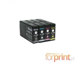 4 Tinteiros Compatíveis Epson T7891-T7894 Preto 65ml + Cor 35ml