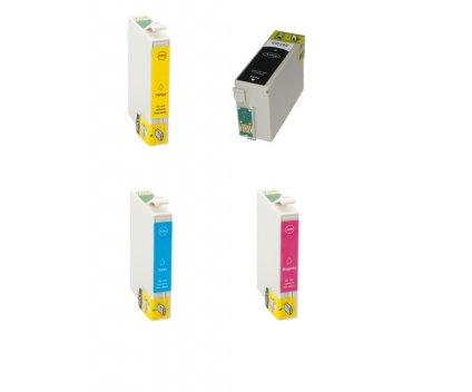 4 Tinteiros Compativeis, Epson T3466 / T3476 / 34 XL Preto + Cor ~ 1.100 / 950 Paginas