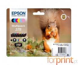 6 Tinteiros Originais, Epson T3788 C / M / Y / PM / PC / BK