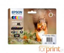 6 Tinteiros Originais, Epson T3798 C / M / Y / PM / PC / BK
