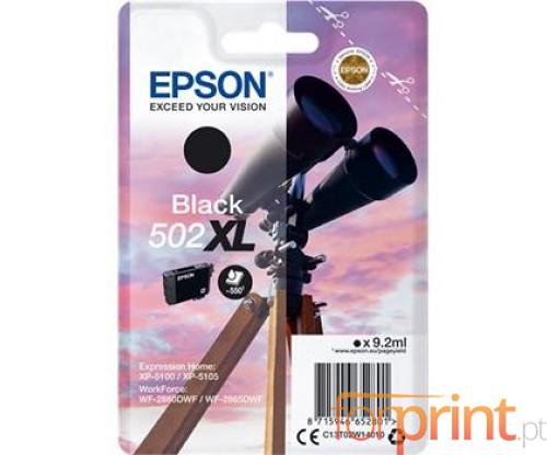 Tinteiro Original Epson T02W1 / 502XL Preto 9.2ml