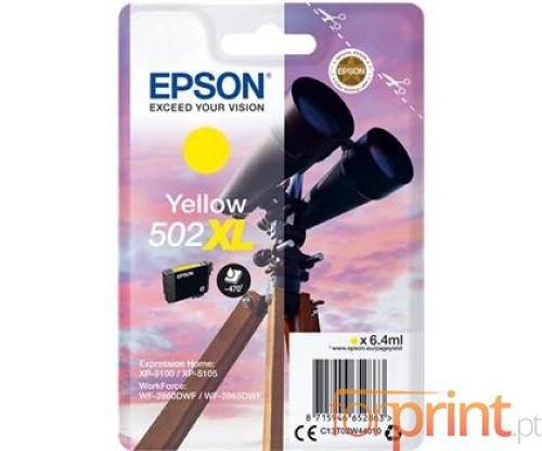 Tinteiro Original Epson T02W4 / 502XL Amarelo 6.4ml