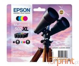 4 Tinteiros Originais, Epson T02W6 / 502XL Preto + Cor