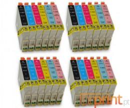 24 Tinteiros Compativeis, Epson T0481-T0486 Preto 18ml + Cor 18ml