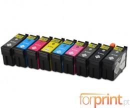 9 Tinteiros Compativeis, Epson T1571-T1579 Preto 29.5ml + Cor 29.5ml