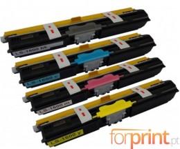 4 Toners Compativeis, Epson S05055X Preto + Cor ~ 2.700 Paginas