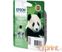 2 Tinteiros Originais, Epson T0501 Preto 15ml