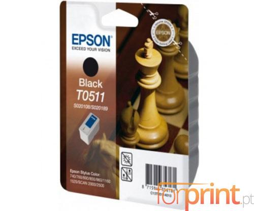 Tinteiro Original Epson T0511 Preto 24ml