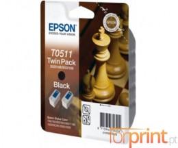 2 Tinteiros Originais, Epson T0511 Preto 24ml