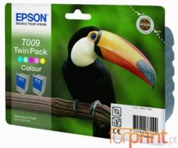 2 Tinteiros Originais, Epson T009 Cor 66ml