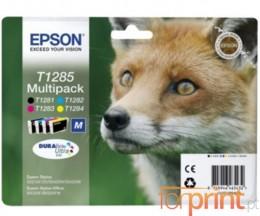 4 Tinteiros Originais, Epson T1281-T1284 Preto 6ml + Cor 3.5ml