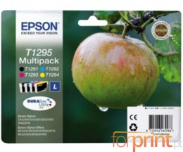 4 Tinteiros Originais, Epson T1291-T1294 Preto 12ml + Cor 7ml