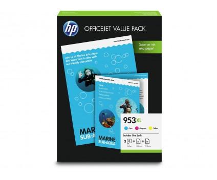 3 Tinteiros Originais, HP 953 XL Cor 20ml