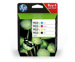 4 Tinteiros Originais, HP 903 XL Preto 21.5ml + Cor 9.5ml ~ 825 Paginas