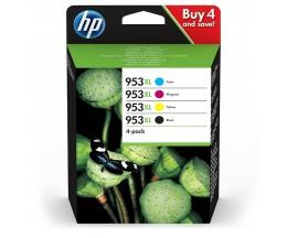 4 Tinteiros Originais, HP 953 XL Preto 43ml + Cor 20ml