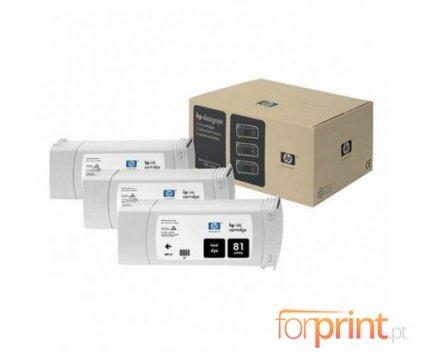3 Tinteiros Originais, HP 81 Preto 680ml