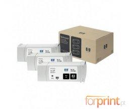 3 Tinteiros Originais, HP 83 Preto 680ml UV