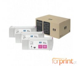 3 Tinteiros Originais, HP 83 Magenta 680ml UV