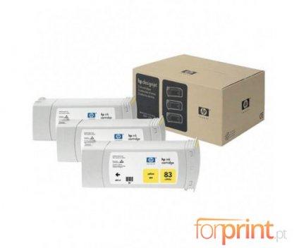 3 Tinteiros Originais, HP 83 Amarelo 680ml UV
