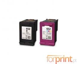 2 Tinteiros Compativeis, HP 652 XL Preto 20ml + Cor 20ml