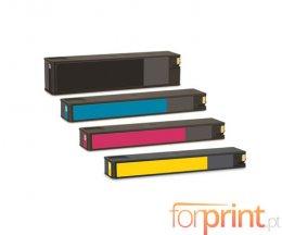 4 Tinteiros Compativeis, HP 913A Preto 80ml + Cor 55ml
