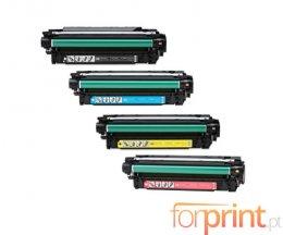 4 Toners Compativeis, HP 504X Preto + 504A Cor ~ 10.500 / 7.000 Paginas