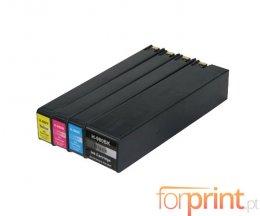 4 Tinteiros Compativeis, HP 980 Preto 256ml + Cor 110ml
