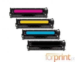 4 Toners Compatíveis, HP 205A Preto + Cores ~ 1.100 / 900 Paginas