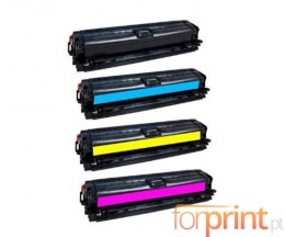4 Toners Compativeis HP 651A Preto + Cor ~ 13.500 / 16.000 Paginas