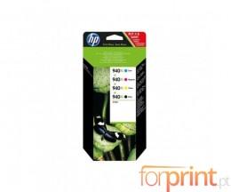 4 Tinteiros Originais, HP 940 XL Preto 50ml + Cor 16ml