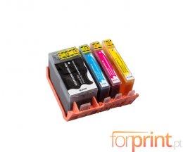 4 Tinteiros Compativeis, HP 934 XL Preto + HP 935 XL Cor ~ 1.000 / 825 Paginas