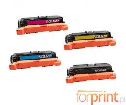 4 Toners Compativeis, HP 508X Preto + Cor ~ 12.500 / 9.500 Paginas