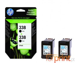 2 Tinteiros Originais, HP 338 Preto 11ml