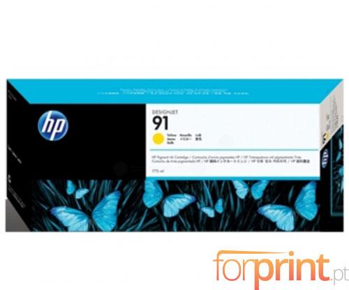 Tinteiro Original HP 91 Amarelo 775ml